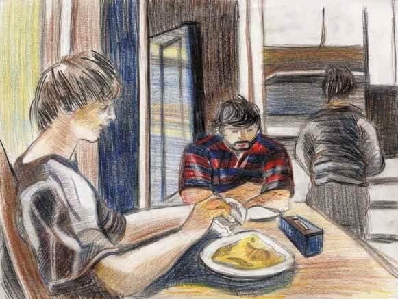 Memories eating breakfast