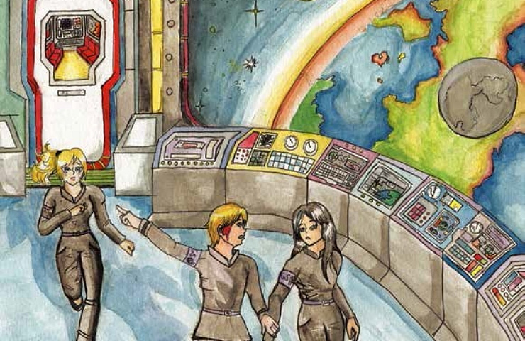 Galactic Rebels looking at earth