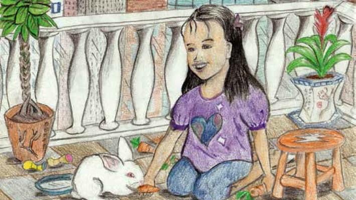 Carrot's Home feeding the bunny