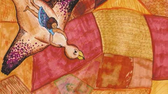 jago bird girl riding bird