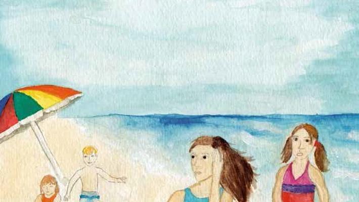 a lesson at the beach children at the beach