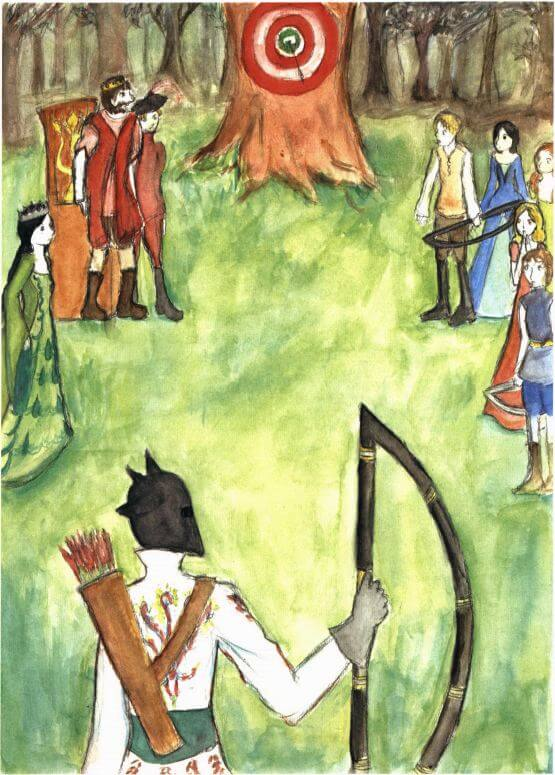The Tale of the Strange Nobleman archery competition