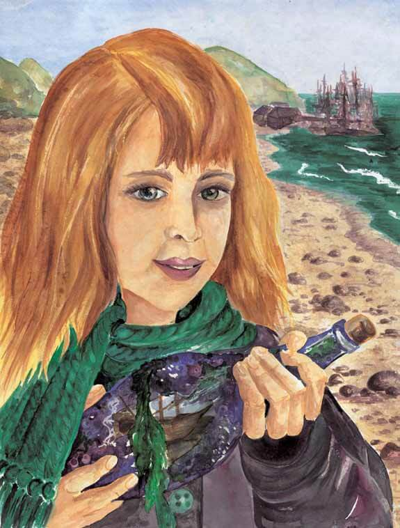 The Ship in a Bottle girl finding a bottle