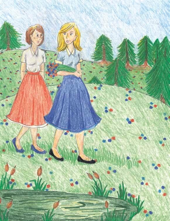 Bailey's Resolve walking field of flowers