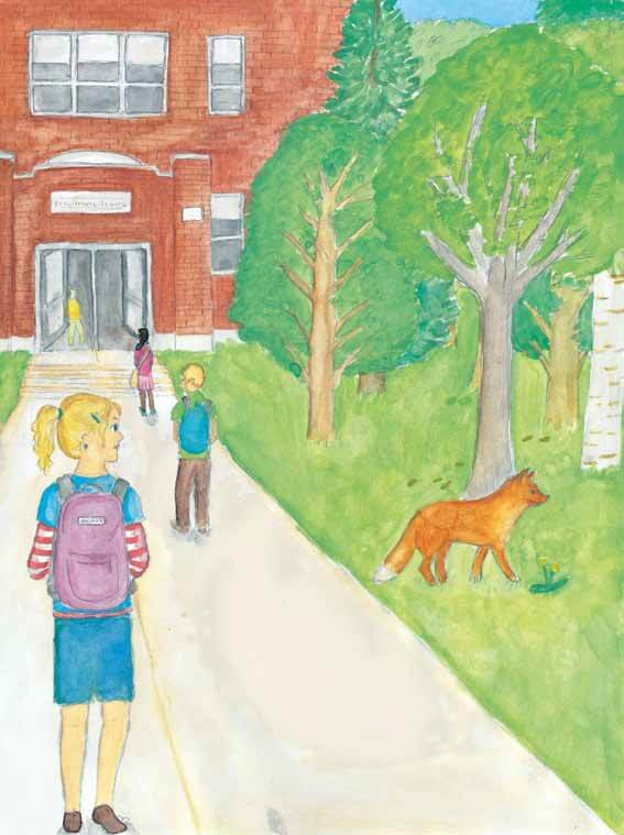 To Follow a Fox girl saw a fox walking