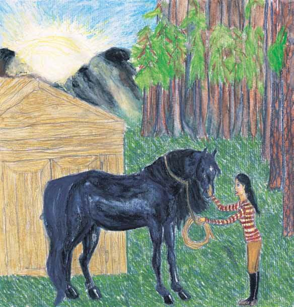 Ghost Horse girl meeting a horse