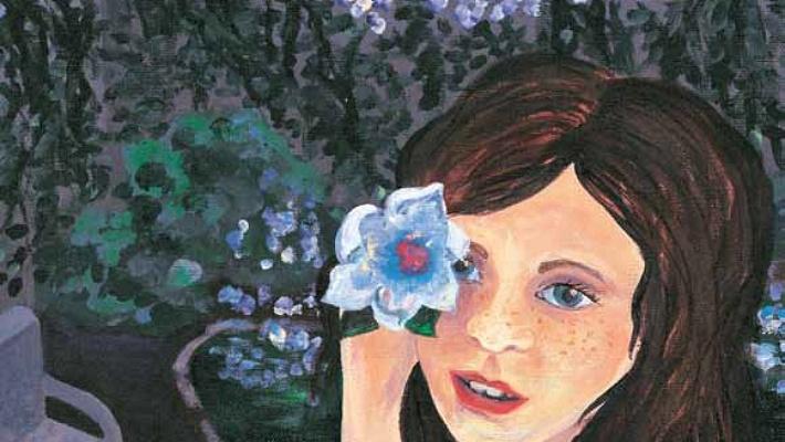 Simple Treasures girl with flowers