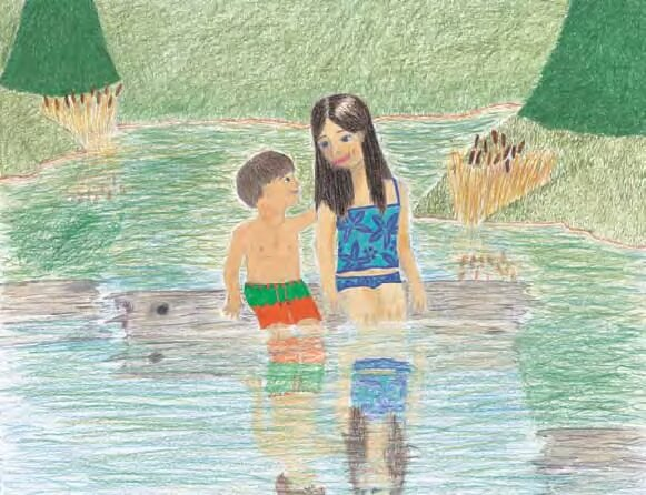 A Special Kind of Family siblings swimming