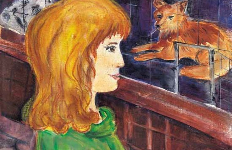 Cry of the Wild Heart feeding the fox