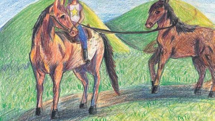 Jessica's Horse riding a horse
