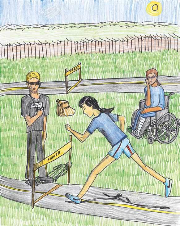 Wind Before watching a girl running in a wheelchair