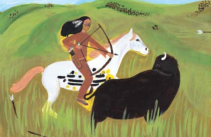 Buffalo Hunt hitting the target