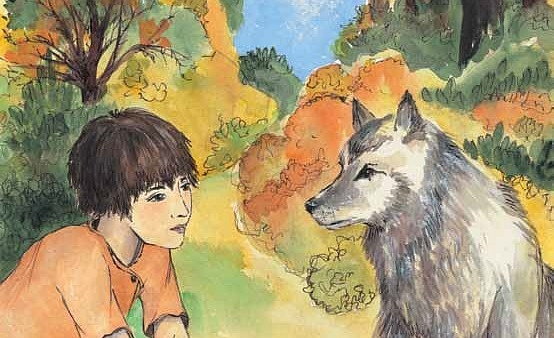 Window into the Wild Brandon and the wolf connect, if only for a moment