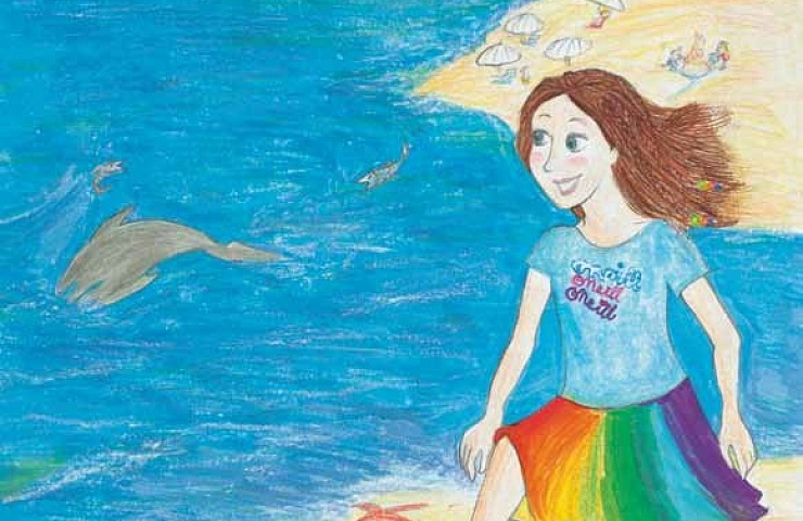 A Walk Down the Ocean seeing a dalphin