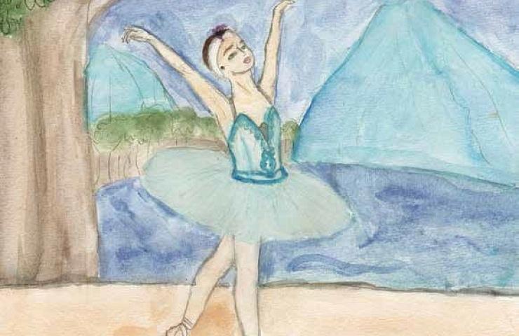 Dream of Dancing girl dancing ballet