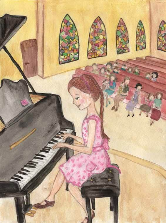 Memories and Beginnings girl playing piano