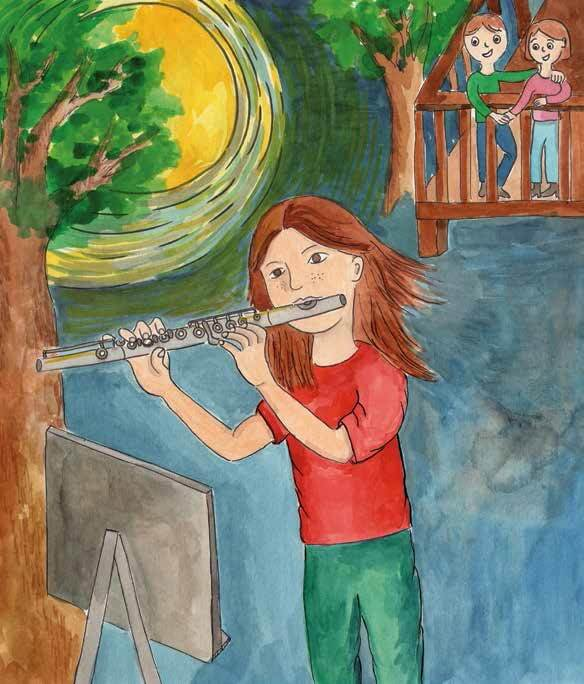 Moonlight Waltz girl playing a flute
