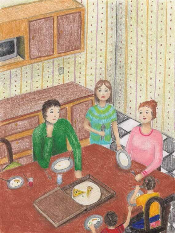 This Summer family at dining table