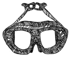 Imprisoning the Manatees black goggles