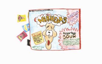 Sour Memories candy in a box