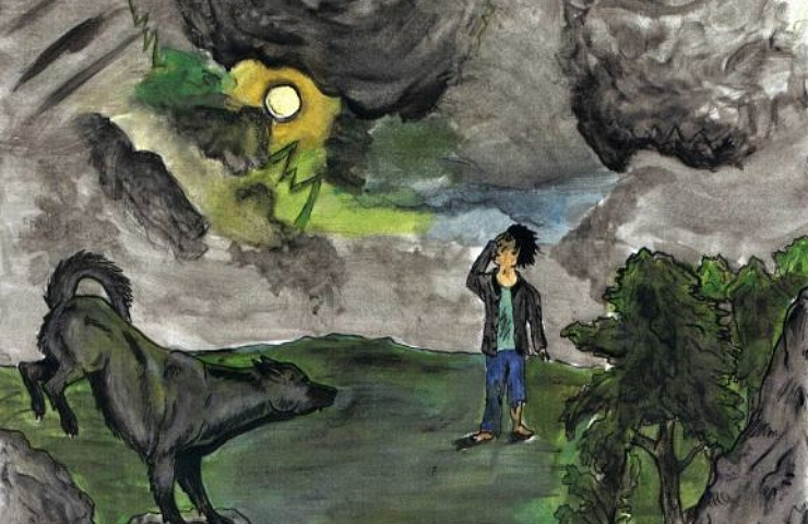Moon Child werewolf on a fullmoon