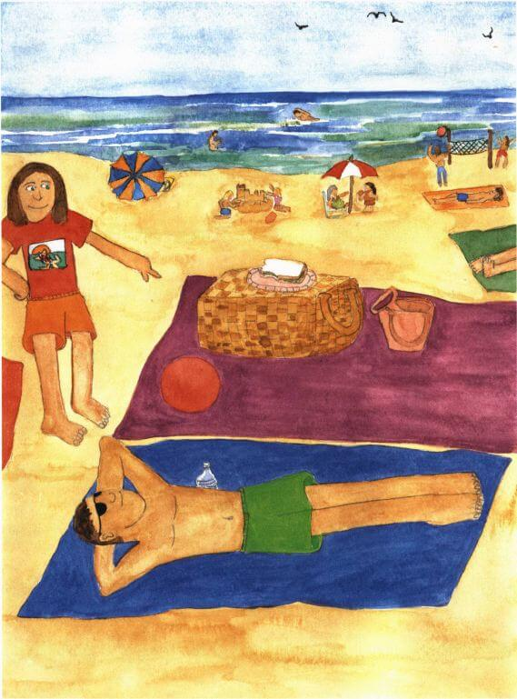 Summer of the Sea Turtles sun bathing