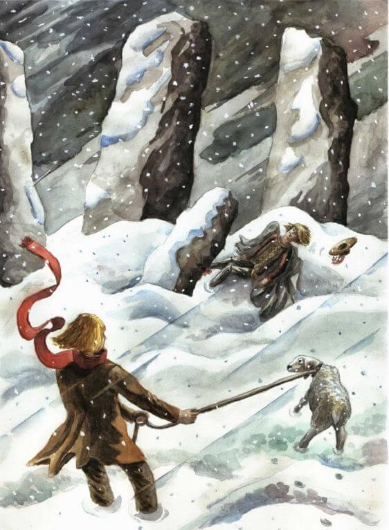 Shepherd of Stonehenge injured man in snow