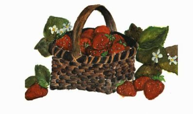 The Strawberry Olympics basket full of strawberry