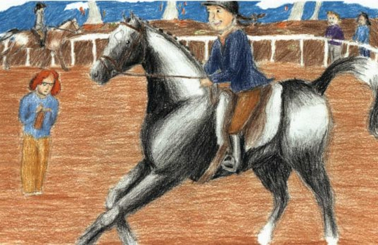 First Horse Show, Ever during competition