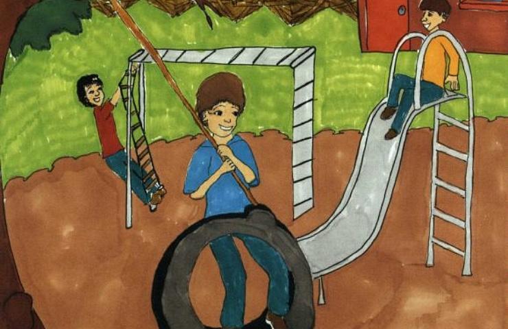 My Friend, Luis Manuel children on the playground