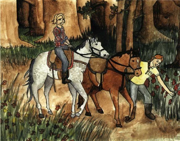 Notes to Each Other riding horses