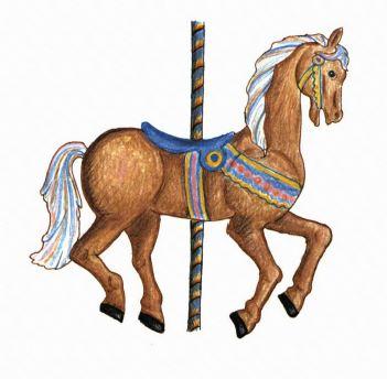 Saturdays painted horses