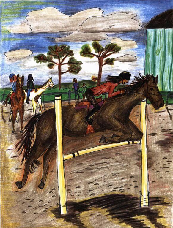 Ashie riding a horse