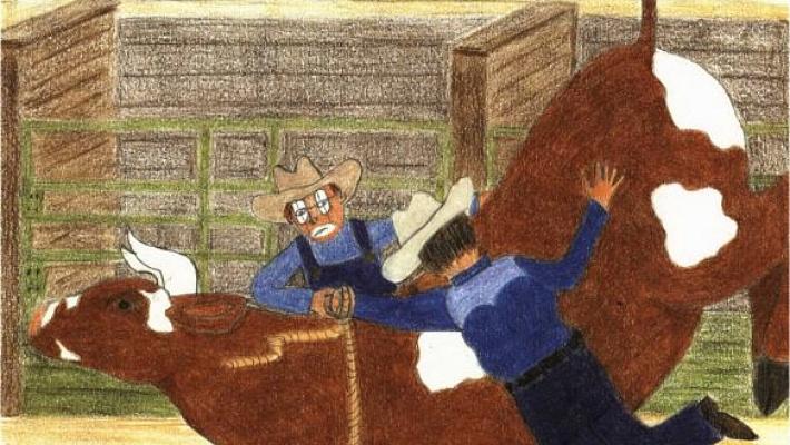 Bullfighter helping a fellow bullfighter
