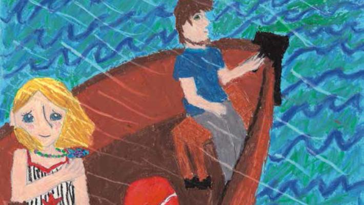 Ria Fish in a boat