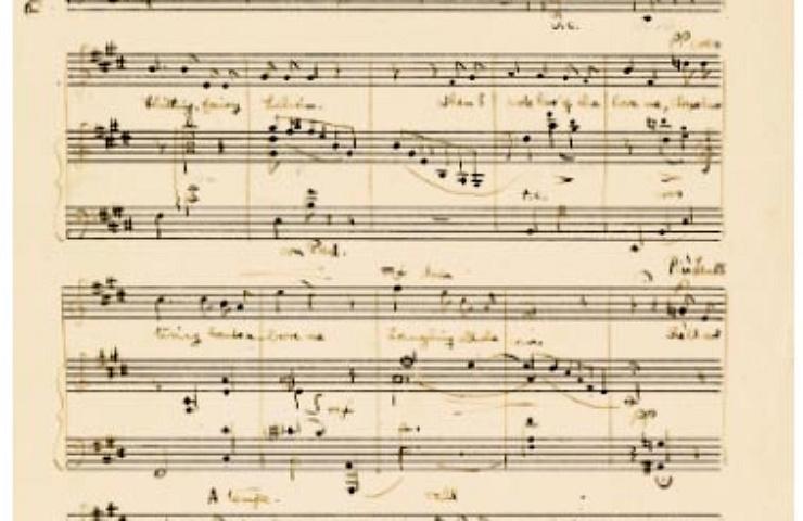 Manuscript of Lilian by Benjamin Britten, 1929, young composer.