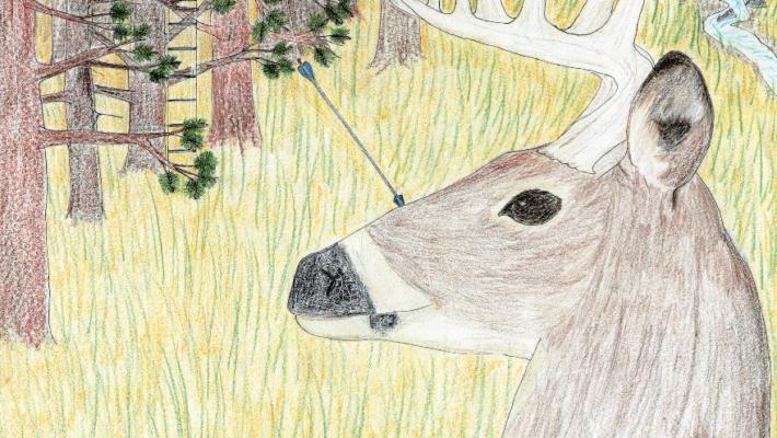 The Hunt deer with arrows