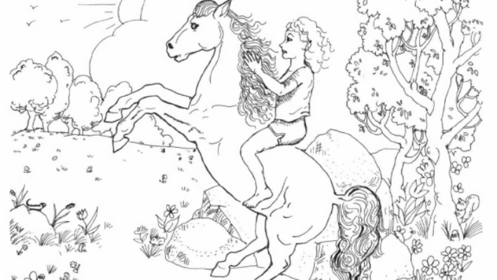 Princess and the Island Stallion horse on two legs