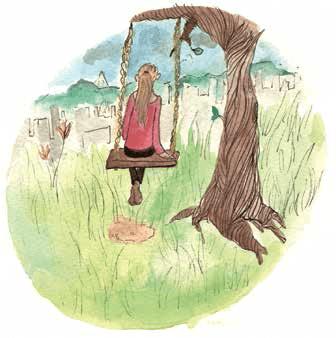 A Little Bit of Home Girl on Swing