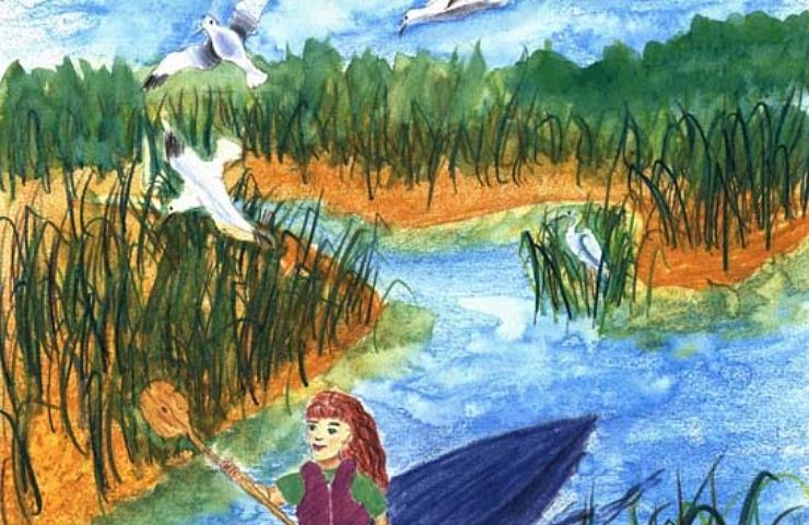 persistence girl on a kayak