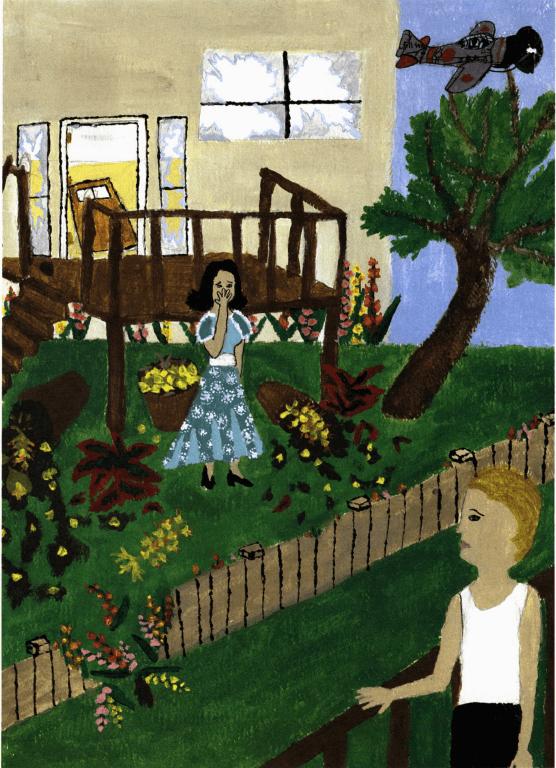 A Shaken Garden talking over the fence