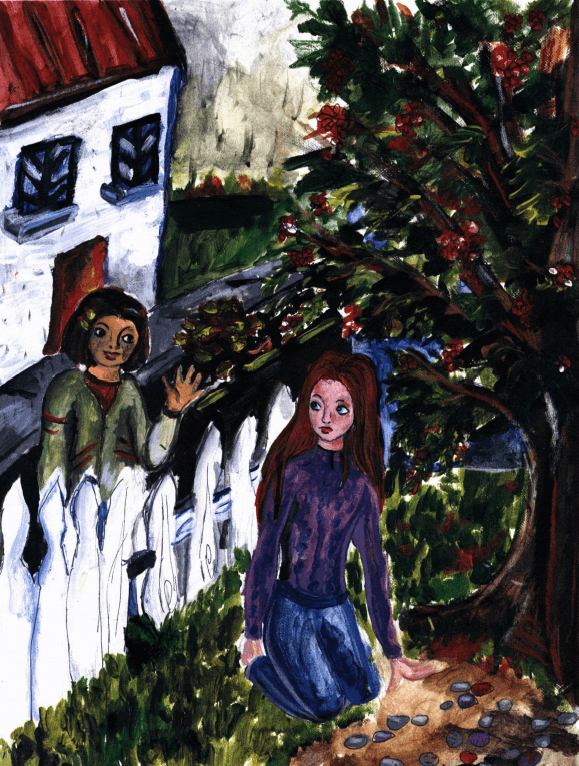 The Kingdom of Stones two girls talking