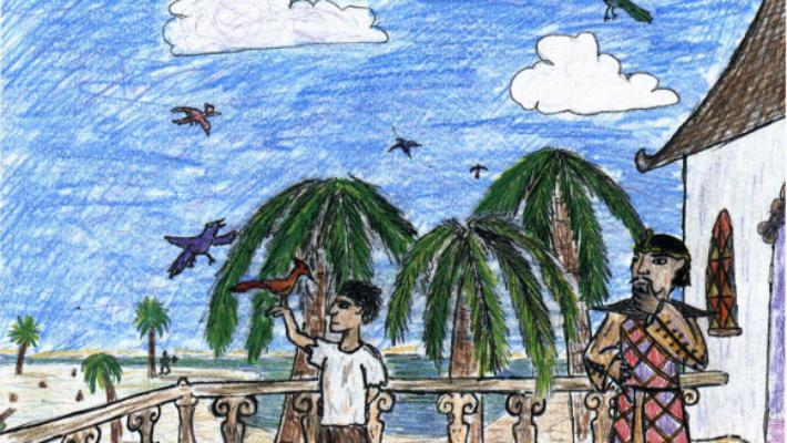 A Bird's Prophecy surrounded bu birds