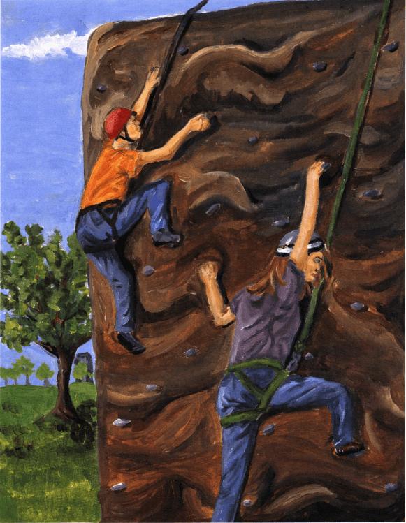 Losing Grip climbing a rock mountain
