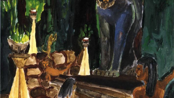 The Thief of Bubastis girl is kneeling