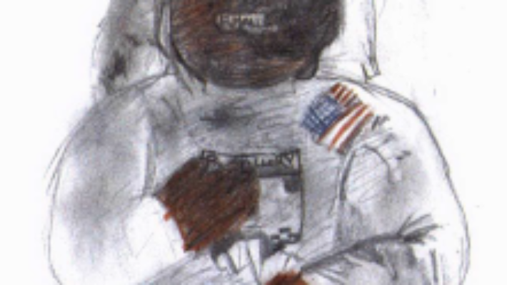 AE-51 wearing a spacesuit