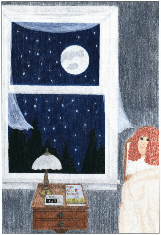 A Natural Lullaby girl looking at the moon