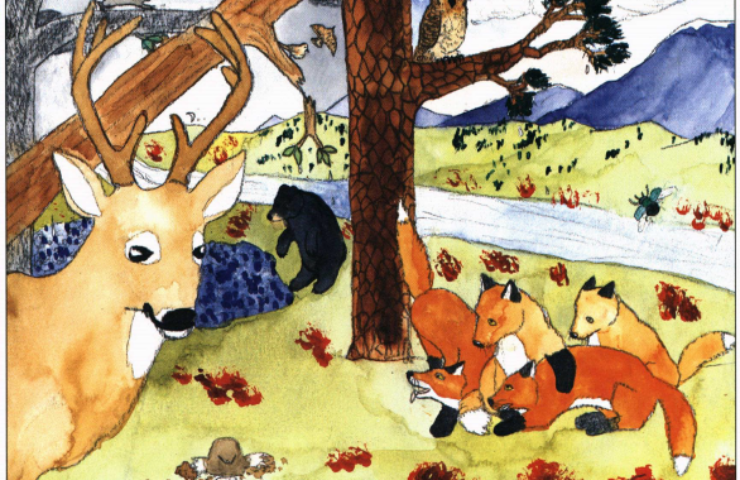 Autumn Thunder animals in the forest