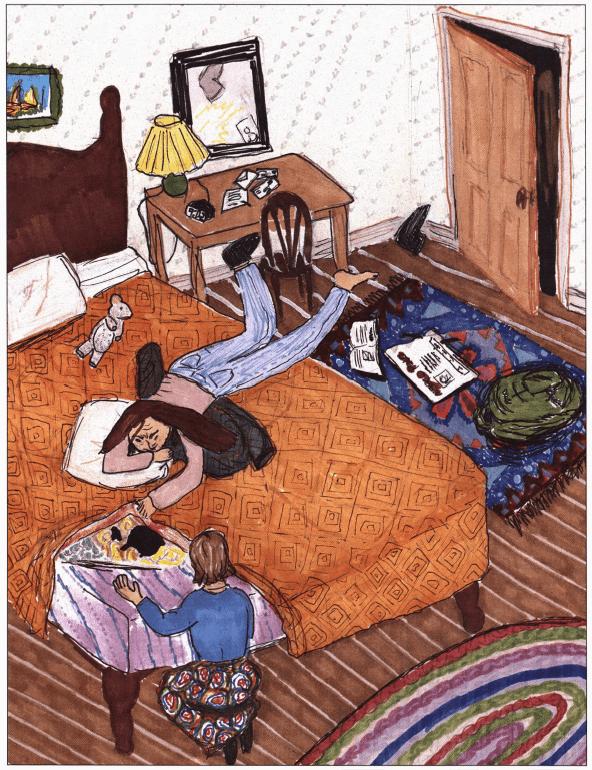 Reb's Secrets sleeping in bed