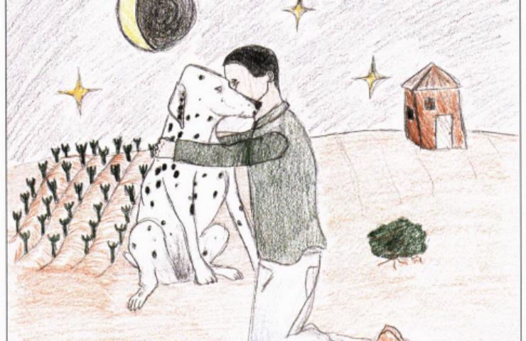 Rosalino's Dog hugging a dog